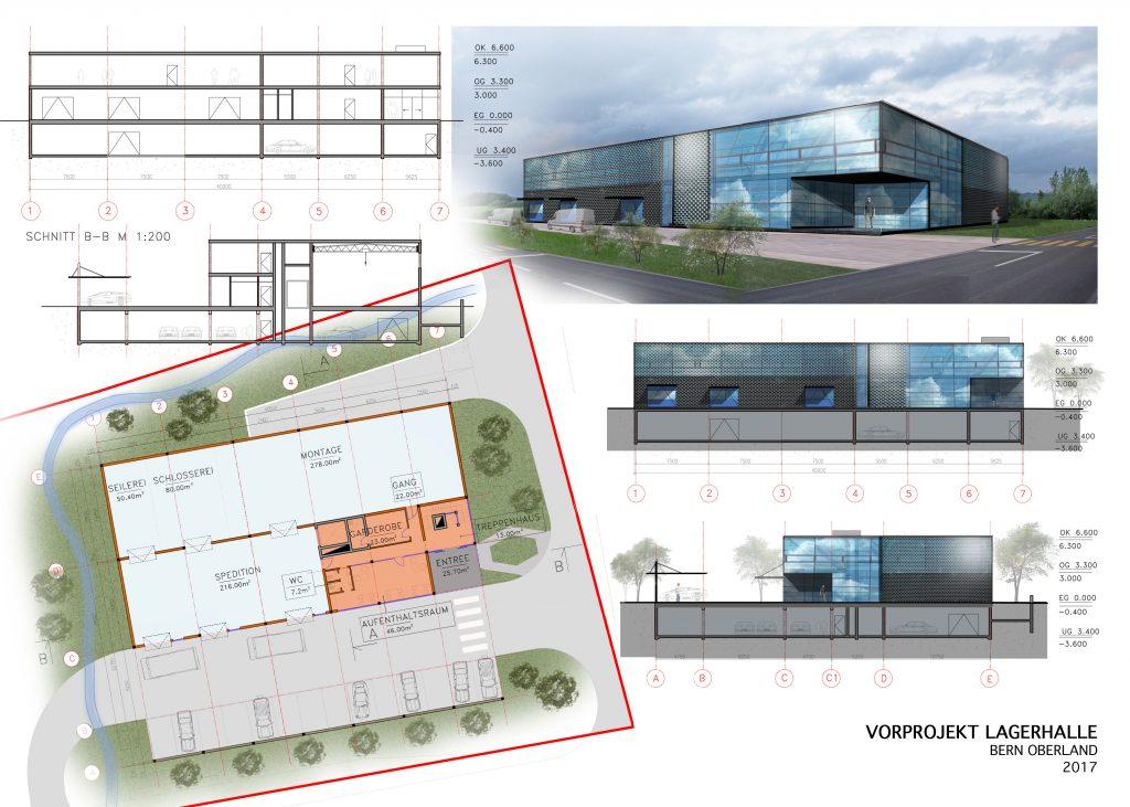 Neubau Spedition Zentrum, Vorprojekt