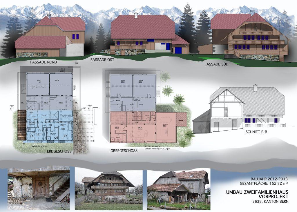 Umbau Einfamilienhaus, Vorprojekt